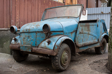 Rusty car from USSR