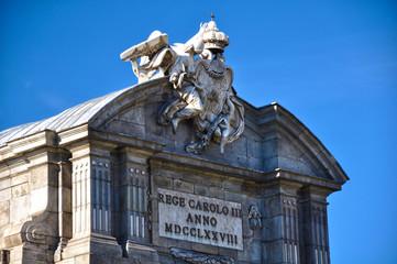 Puerta de Alcalá, Madrid, Carlos III, neoclasicismo, latín