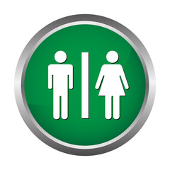 wc button for men and women