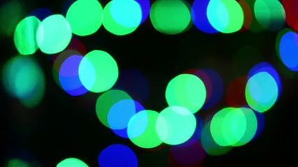 holiday lights on a dark background