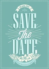 Save The Date Wedding invitation Card