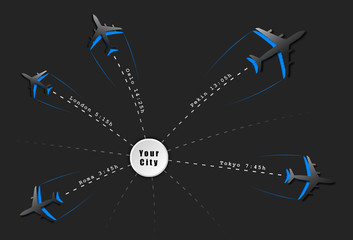 arrivals and departures scheduled flights, air ticket
