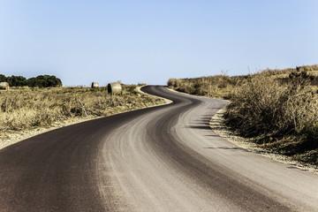 strada tortuosa della sardegna