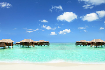 holiday in the Maldives in cottages on the water