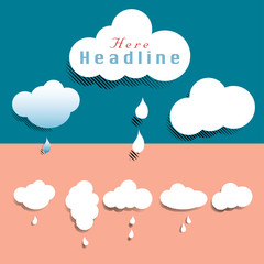clouds and headline