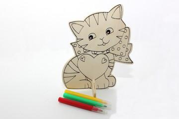 Chat à peindre