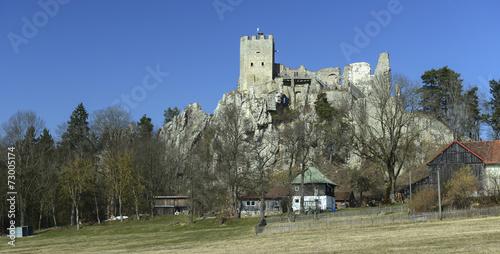 Leinwanddruck Bild Landkreis Regen - Burgruine Weißenstein