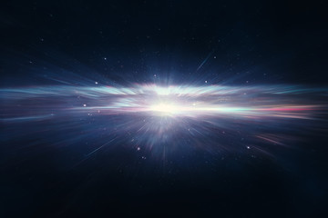 Star explosion in deep space