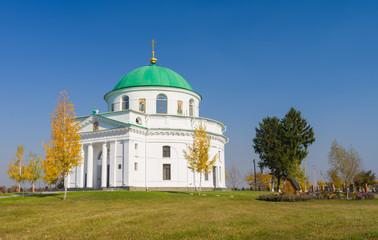 An ancient church in settlement Dikanka, Ukraine.