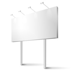 Vector white blank billboard