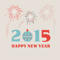 Happy New Year 2015. Greeting card.