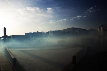 Fogging mosquito control in hotel resort