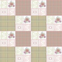 Patchwork retro striped floral texture pattern retro pastel back