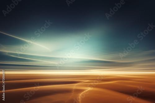 Mars desert like fantasy landscape - 73006197
