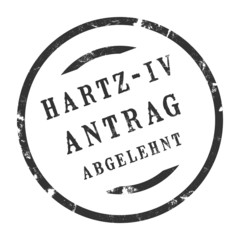 sk203 - StempelGrafik Rund - Hartz IV Antrag abgelehnt - g2526