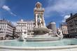 Leinwanddruck Bild - La fontaine de la Place des Jacobins