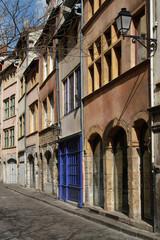 Une rue dans le quartier Saint Georges de Lyon