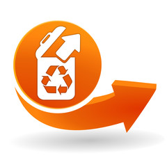 recyclage sur bouton web orange