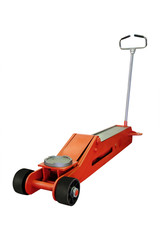 car repair lifting jack isolated under the white background