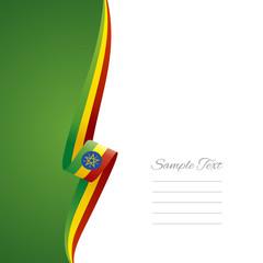 Ethiopia left side brochure cover vector
