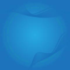 Błękitna kompozycja w okręgu