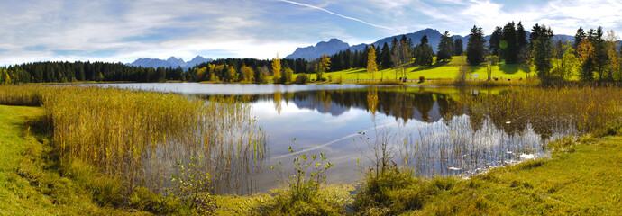 panorama view to rural landscape in Bavaria