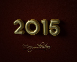 2015 Christmas and New Year Greeting Card for happy holiday