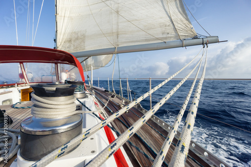 rope on sail boat