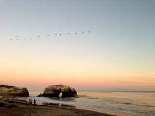 Sunset over natural arch