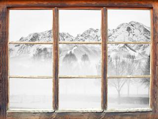 Fensterblick Untersberg - Winterstimmung