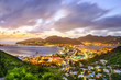 Leinwanddruck Bild - Philipsburg, Sint Maarten in the Caribbean
