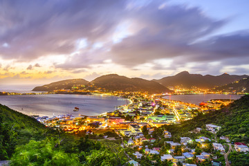 Philipsburg, Sint Maarten in the Caribbean