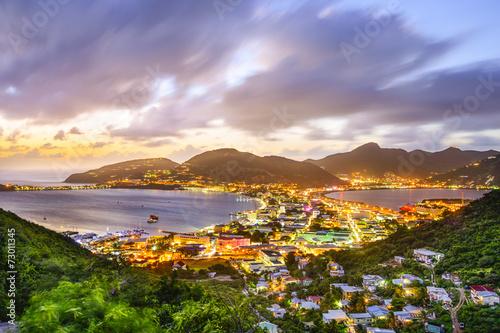 Fotobehang Caraïben Philipsburg, Sint Maarten in the Caribbean