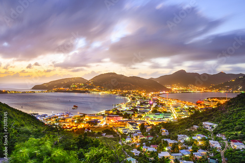 Leinwanddruck Bild Philipsburg, Sint Maarten in the Caribbean