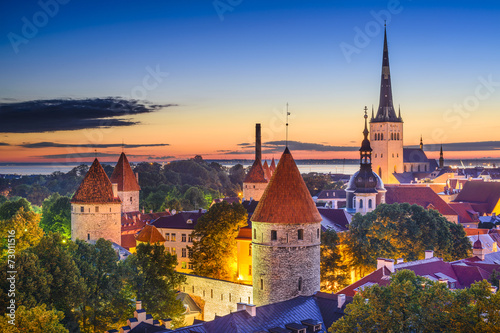 Tuinposter Europa Tallinn, Estonia Old City