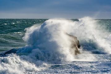 Storm in Black sea, coast of Crimea