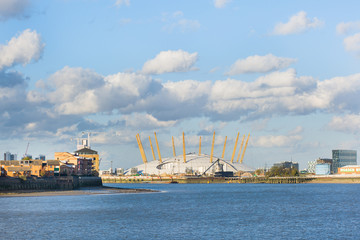 Millenium Dome seen from Greenwich, London, UK