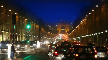 France. Paris. Night street