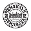 Surabaya grunge rubber stamp