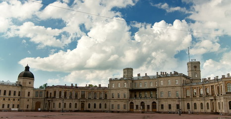 Russia, Gatchina, parade ground before palace. Time lapse.
