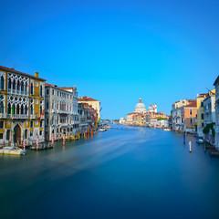 Venice grand canal, Santa Maria della Salute church landmark. It