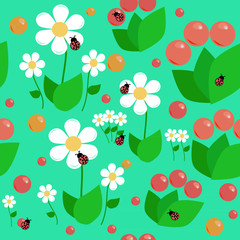 Seamless floral pattern. Vector illustration