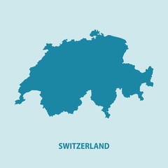Switzerland Map Vector Very Detailed