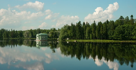 Time lapse. Gatchina.Petersburg. Russia.Venus pavilion