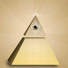 Eye of providence in pyramid