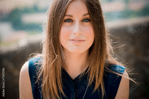 canvas print picture young beautiful hipster woman