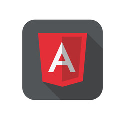 vector illustration of light red shield with A on the screen