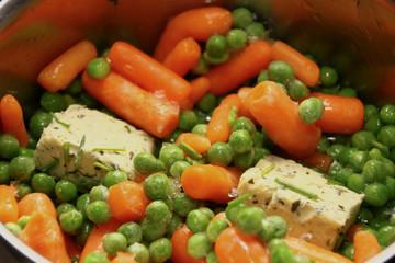 Erbsen Karotten