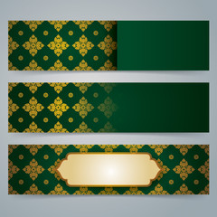 Collection banner design, Asian art background.
