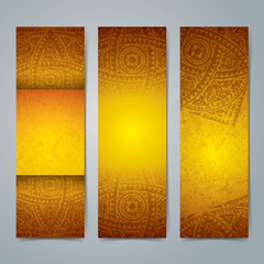 Collection banner design, African art background.